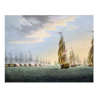 Kampf des Nils am 1. August 1798 graviert durch T Postkarte