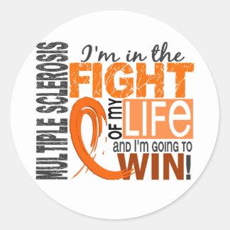 Kampf meiner Leben-multiplen Sklerose Runder Aufkleber