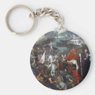 Kampf von Asola durch Tintoretto Schlüsselanhänger