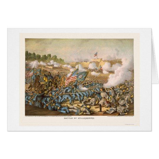 Kampf von Williamsburg durch Kurz und Allison 1862 Karte