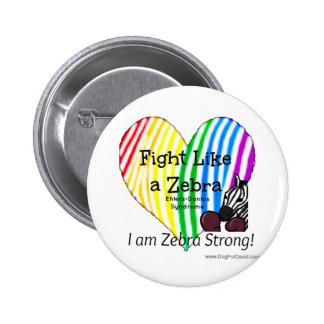 Kampf wie ein Zebra Ehlers-Danlos Runder Button 5,1 Cm