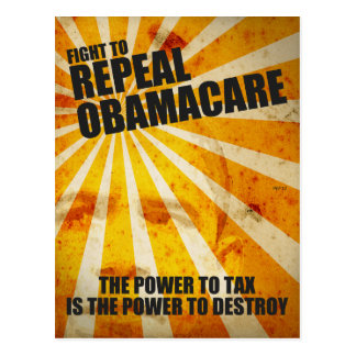Kampf, zum von Obamacare zu widerrufen Postkarten