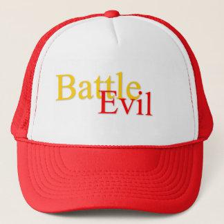 Kämpfen Sie schlechten Logo-roten/weißen Truckerkappe