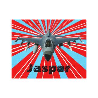 Kampfflugzeug Leinwanddruck