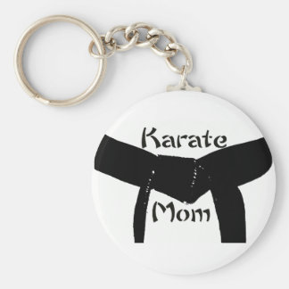 Kampfkunst-Gürtel-Karate-Mamma Keychain Standard Runder Schlüsselanhänger