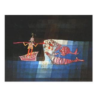 Kampfszene Pauls Klee- vom Comic ` Seafarer Postkarte