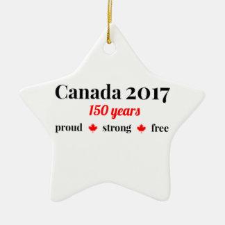 Kanada 150 im Jahre 2017 stolz und frei Keramik Ornament