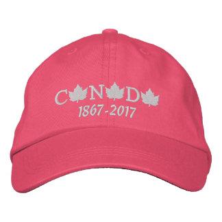 Kanada 150 stickte rosa Baseballmütze für sie Bestickte Kappe