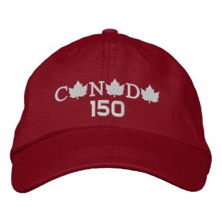 Kanada 150 stickte rote Baseballmütze Bestickte Kappe