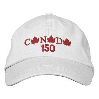 Kanada 150 stickte weiße Baseballmütze Bestickte Kappe