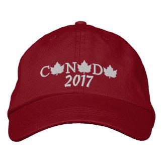 Kanada 2017 stickte rote Baseballmütze Bestickte Kappe