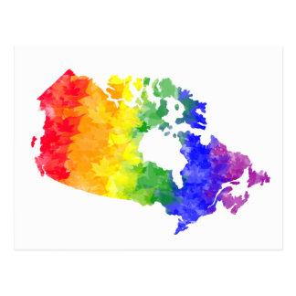 Kanada-Ahornblatt-Regenbogen-Stolzpostkarte Postkarte