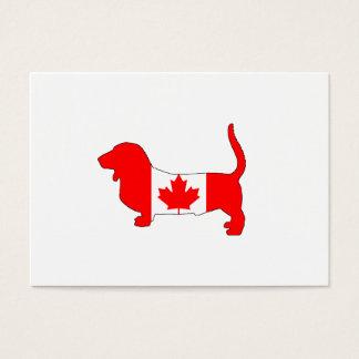 Kanada Basset Hound Visitenkarte