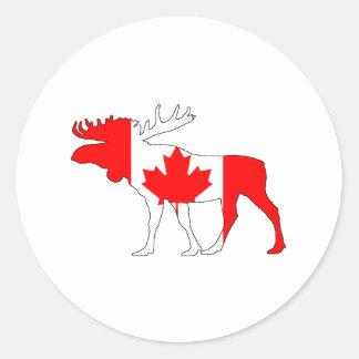 Kanada-Elche Runder Aufkleber