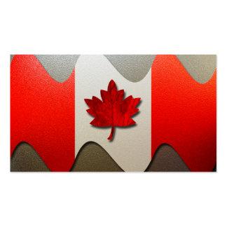 Kanada Flagge-Chrom Visitenkartenvorlagen
