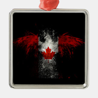 KANADA-FLAGGE EAGLE SILBERNES ORNAMENT