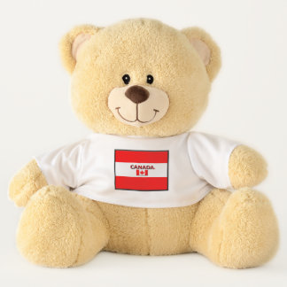 Kanada-Flagge färbt Teddybären
