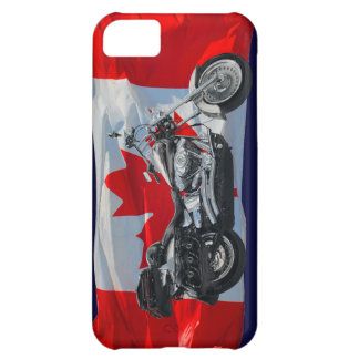 Kanada-Flagge u. Motorrad-patriotischer iPhone 5C Hülle