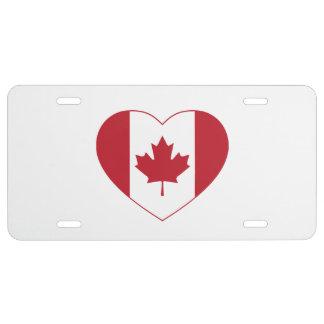 Kanada-Flaggen-Herz-Kfz-Kennzeichen US Nummernschild