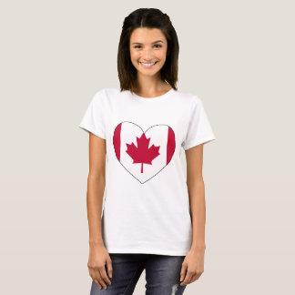 Kanada-Flaggen-Herz T-Shirt