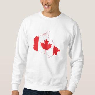 Kanada-Flaggen-Karte Sweatshirt