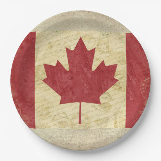 Kanada-Flaggen-Papier-Teller Pappteller