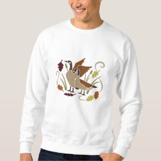 Kanada-Gänse im Herbst Besticktes Sweatshirt