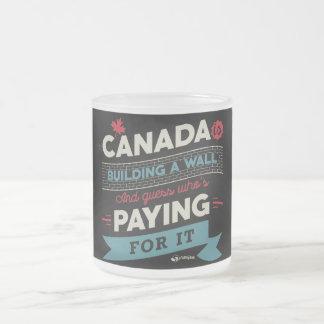 Kanada ist Gebäude ein Wand Mattglastasse