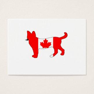 Kanada-Katze Visitenkarte