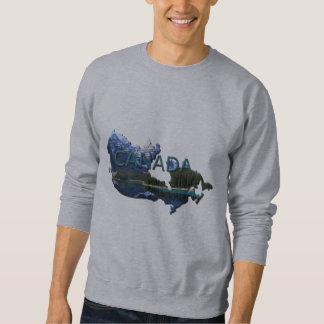 Kanada-Landschaftskarten-Sweatshirt Sweatshirt