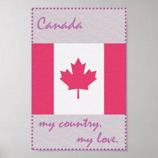 Kanada mein Land meine Liebe Poster