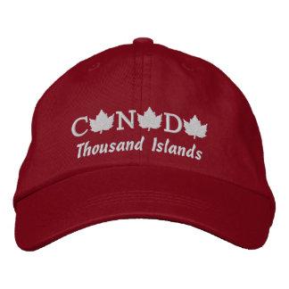 Kanada stickte tausend Insel-Kappe Bestickte Kappe