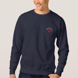 Kanada-Sweatshirt - roter Kanada-Ahorn Besticktes Sweatshirt
