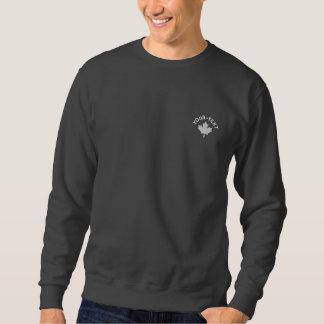 Kanada-Sweatshirt - weißer Kanada-Ahorn Besticktes Sweatshirt