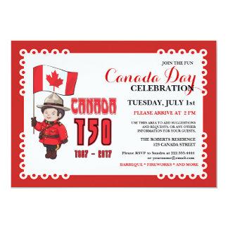 Kanada-Tag150 GRILLEN Feier-Einladung Karte
