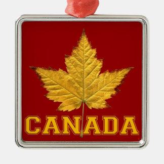 Kanada-Verzierungs-Andenken-personalisierte Quadratisches Silberfarbenes Ornament