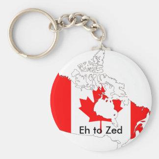 Kanada, wie zum Zed Standard Runder Schlüsselanhänger