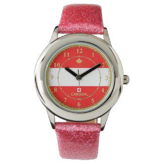 Kanadas Farbflaggen-Designer-Uhr Armbanduhr