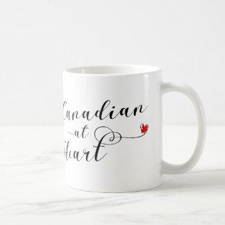 Kanadier an der Herz-Tasse, Kanada Kaffeetasse