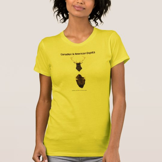 Kanadisch und Amerikaner Expats T-Shirt