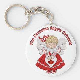 Kanadische Engel Network-ver2 Standard Runder Schlüsselanhänger