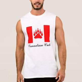 Kanadische Flagge Kanadier-CUBs mit der Ärmelloses Shirt