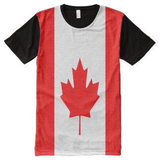 Kanadische Flagge voll T-Shirt Mit Komplett Bedruckbarer Vorderseite