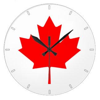 Kanadische Flaggen-Ahornblatt-Wanduhr Große Wanduhr
