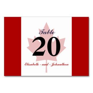 Kanadische Flaggen-Hochzeit