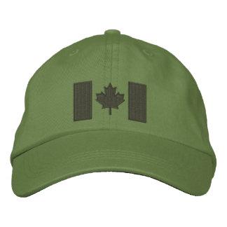 Kanadische Flaggen-Stickerei Bestickte Kappe
