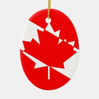 Kanadische Taucher-Flagge (TM) klar Keramik Ornament