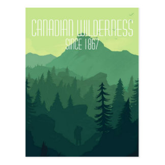 Kanadische Wildnis Postkarte