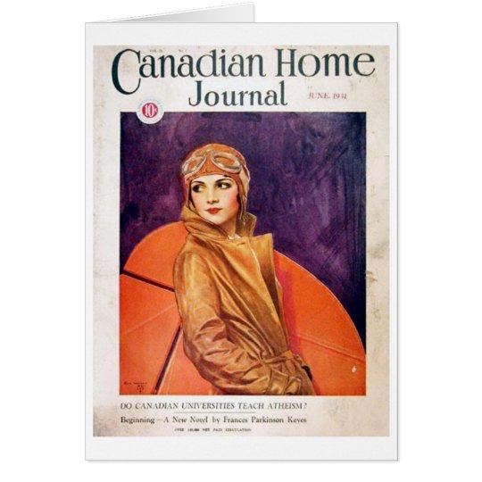 Kanadische Zuhause-Zeitschrift 1931 Karte
