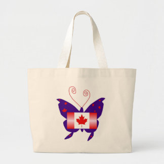 Kanadischer Diva-Schmetterling Leinentaschen